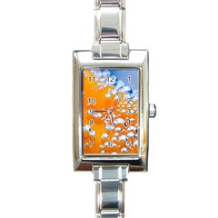 Bubbles Background Rectangle Italian Charm Watch