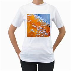 Bubbles Background Women s T-Shirt (White) (Two Sided)