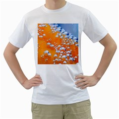 Bubbles Background Men s T-Shirt (White) (Two Sided)