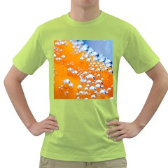 Bubbles Background Green T-Shirt