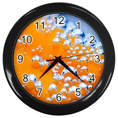 Bubbles Background Wall Clocks (Black)