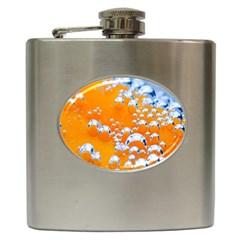 Bubbles Background Hip Flask (6 Oz)