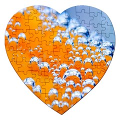 Bubbles Background Jigsaw Puzzle (heart)