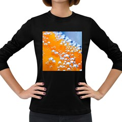 Bubbles Background Women s Long Sleeve Dark T Shirts