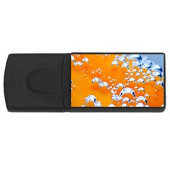 Bubbles Background Usb Flash Drive Rectangular (4 Gb)