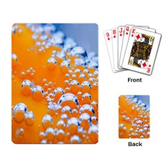 Bubbles Background Playing Card