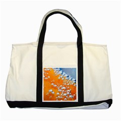 Bubbles Background Two Tone Tote Bag