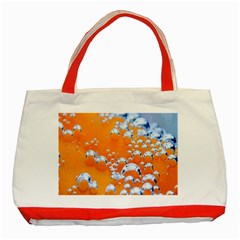 Bubbles Background Classic Tote Bag (red)