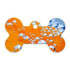 Bubbles Background Dog Tag Bone (two Sides)