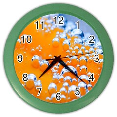 Bubbles Background Color Wall Clocks