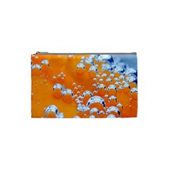 Bubbles Background Cosmetic Bag (small)