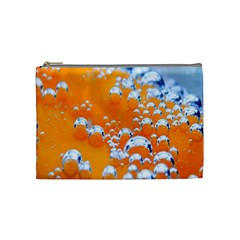 Bubbles Background Cosmetic Bag (medium)
