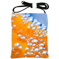 Bubbles Background Shoulder Sling Bags