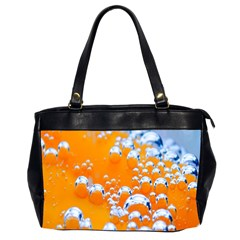 Bubbles Background Office Handbags (2 Sides)