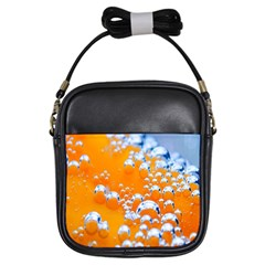 Bubbles Background Girls Sling Bags
