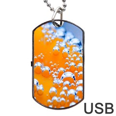 Bubbles Background Dog Tag USB Flash (Two Sides)
