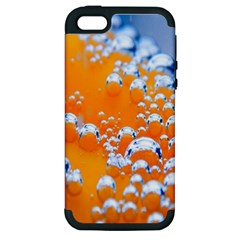 Bubbles Background Apple iPhone 5 Hardshell Case (PC+Silicone)
