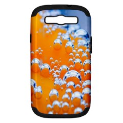 Bubbles Background Samsung Galaxy S III Hardshell Case (PC+Silicone)