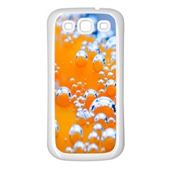 Bubbles Background Samsung Galaxy S3 Back Case (white)