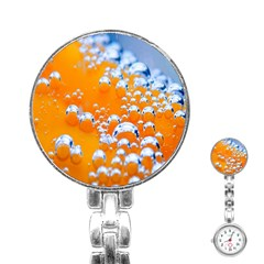 Bubbles Background Stainless Steel Nurses Watch