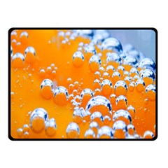 Bubbles Background Double Sided Fleece Blanket (small)