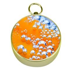 Bubbles Background Gold Compasses
