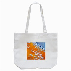 Bubbles Background Tote Bag (white)