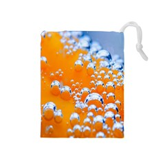 Bubbles Background Drawstring Pouches (Medium)