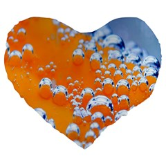 Bubbles Background Large 19  Premium Flano Heart Shape Cushions