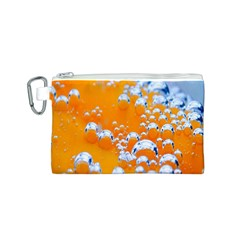 Bubbles Background Canvas Cosmetic Bag (s)