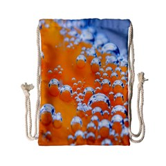 Bubbles Background Drawstring Bag (small)
