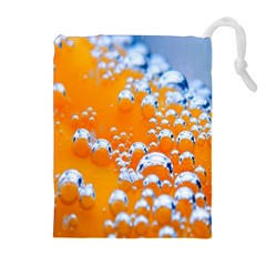 Bubbles Background Drawstring Pouches (Extra Large)