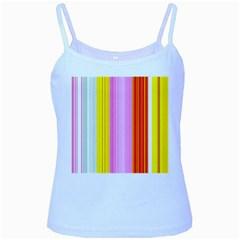 Multi Colored Bright Stripes Striped Background Wallpaper Baby Blue Spaghetti Tank