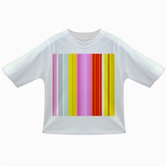 Multi Colored Bright Stripes Striped Background Wallpaper Infant/Toddler T-Shirts