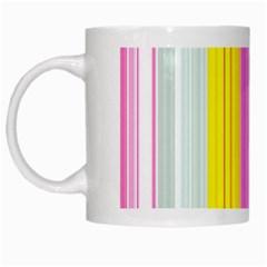 Multi Colored Bright Stripes Striped Background Wallpaper White Mugs