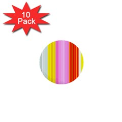 Multi Colored Bright Stripes Striped Background Wallpaper 1  Mini Buttons (10 pack)