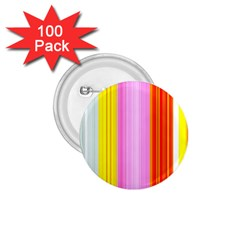 Multi Colored Bright Stripes Striped Background Wallpaper 1 75  Buttons (100 Pack)