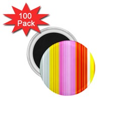 Multi Colored Bright Stripes Striped Background Wallpaper 1 75  Magnets (100 Pack)