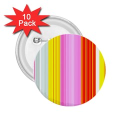 Multi Colored Bright Stripes Striped Background Wallpaper 2.25  Buttons (10 pack)