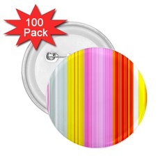 Multi Colored Bright Stripes Striped Background Wallpaper 2 25  Buttons (100 Pack)