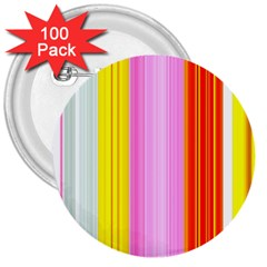 Multi Colored Bright Stripes Striped Background Wallpaper 3  Buttons (100 pack)