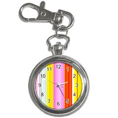 Multi Colored Bright Stripes Striped Background Wallpaper Key Chain Watches