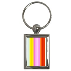 Multi Colored Bright Stripes Striped Background Wallpaper Key Chains (Rectangle)