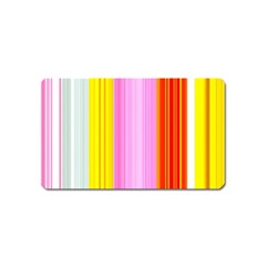 Multi Colored Bright Stripes Striped Background Wallpaper Magnet (name Card)