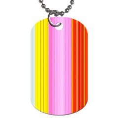 Multi Colored Bright Stripes Striped Background Wallpaper Dog Tag (one Side)