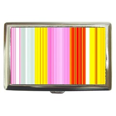 Multi Colored Bright Stripes Striped Background Wallpaper Cigarette Money Cases