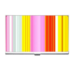 Multi Colored Bright Stripes Striped Background Wallpaper Business Card Holders