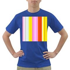 Multi Colored Bright Stripes Striped Background Wallpaper Dark T Shirt