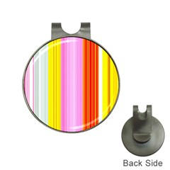 Multi Colored Bright Stripes Striped Background Wallpaper Hat Clips With Golf Markers