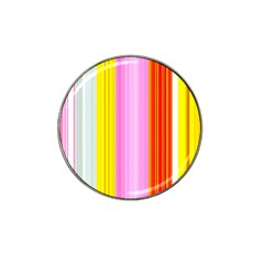 Multi Colored Bright Stripes Striped Background Wallpaper Hat Clip Ball Marker (10 Pack)